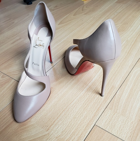 cheap for discount bc1c5 e3b78 Louboutin Jumping 85 Nude Leather EU 39 / US 8.5